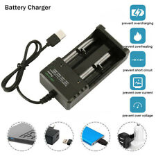 18650 USB Battery Charger Fast Charge Dual for 3.7V 16340 14500 26650 GO9X