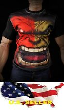 1/6 men / women clothes fashion Graphic Tee Hulk Sport casual for Hot toys