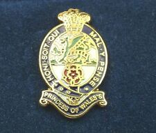 PWRR PRINCESS OF WALES ROYAL REGIMENT HAND MADE IN UK PLATED LAPEL PIN BADGE