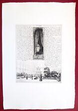 Eau-forte originale, L'exposition des Beaux-Arts, Martial,Cadart, XIXe