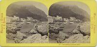 Italia Vista Da Capri Foto Lamy Stereo Vintage Albumina c1870