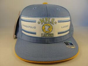 Minneapolis MPLS Lakers NBA Reebok Fitted Hat Cap Size 8 Blue White Gold