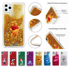 Cute Disney Pattern Soft Quicksand Case Cover For iPhone 11 Pro Max 5s 6 SE 2020