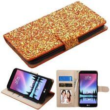 Fundas y carcasas transparente de plástico de color principal oro para teléfonos móviles y PDAs