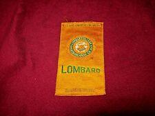 Vintage 1910 Lombard College (Il) Tobacco Mini Pennant, Egyptienne Luxury Silk.