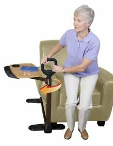Able Life Able Tray Table, Adjustable Swivel TV and Laptop Table Mobility Aid