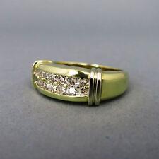 Gut geschliffene Echtschmuck-Ringe im Band-Stil mit P1 Reinheit