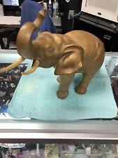 1990's Royal Dux Bohemia Gold Matte Porcelain Elephant Figurine