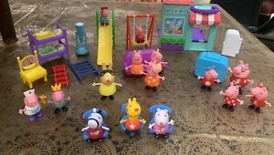 Huge Lot Peppa Pig And Friends Figurines Pretend Play House Playground Camper