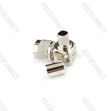 N-Type male plug right angle crimp RG8 RG165 RG213 LMR400 cable RF connector