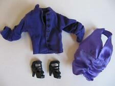 Hannah Montana Doll Miley Cyrus Clothes Fashion Purple Halter Top Jacket Shoes