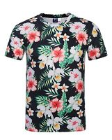 Tropical Flowers T-Shirt (all over cool colourful festival t shirt)