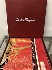 Limited Edition Salvatore Ferragamo Safari Silk Scarf NIB