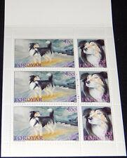 Isole Faroe 1994 Cani, cani Pastore, COMPLETO 52Kr libretto, Gomma integra, non linguellato/specialistica