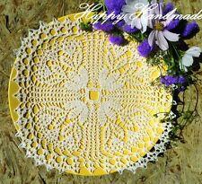 HaHa White Linen Crochet 27x27cm (11 inch) Square Doily / wedding