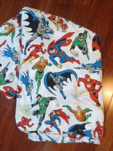 Pottery Barn Kids DC Justice League Duvet Cover TWIN Superman Batman Flash Aquam