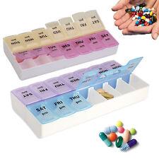 7 Day 14 Slots Pill Storage Box Weekly Medicine Organizer AM/PM Detach Case