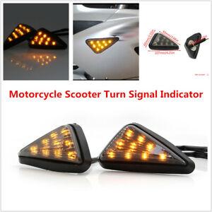 2PCS Motorcycle Scooter Bikes LED Flashing Turn Signal Indicator DRL Tail Lamps
