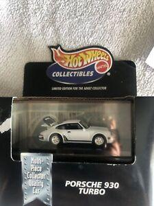 Hot Wheels Collectibles Black Box Porsche 930 Turbo White Diecast Car