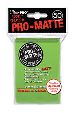 100 Ultra Pro-Matte Lime Green Deck Protector Sleeves MTG Magic The Gathering
