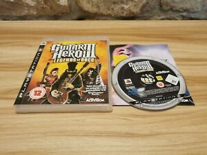 Guitar Hero III: Legends of Rock For Sony PlayStation 3 PS3 Complete - Offer!