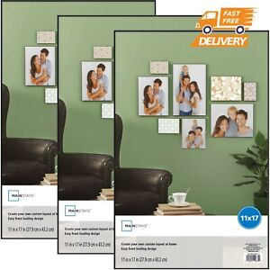 Mainstays 11x17 Format Picture Poster Frame, Set of 3  Home Wall Decor NEW
