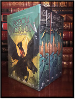 Percy Jackson and the Olympians 5 Vol. Box Set by Rick Riordan New Sealed Deluxe