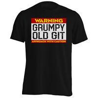 Warning Grumpy Old Git Men's T-Shirt/Tank Top r719m