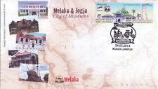 Malaysia 2014 Melaka & Jogja-City of Museums FDC
