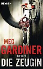 Die Zeugin  Meg Gardiner Thriller  Taschenbuch  ++Ungelesen++