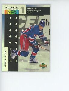 1999 UPPER DECK BLACK DIAMOND HOCKEY WAYNE GRETZKY RANGERS SP INSERT CARD /1500