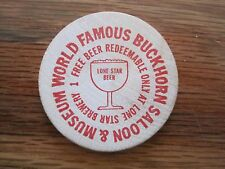 Lot of 2 Wooden Nickels--Buckhorn Saloon Museum
