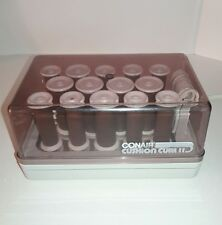 Vintage ConAir Cushion Curl ll Hot Rollers Hair Curlers Clips Tested 14  HS-7