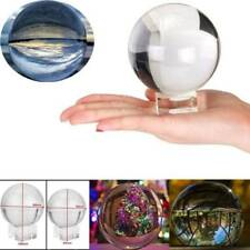 50/80mm Clear Glass Crystal Healing Ball Photography Lens Ball Sphere Decoration