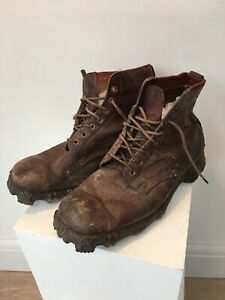 vintage mountaineering Climbing hobnail Ice boots leather