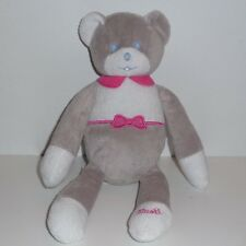 Doudou Ours Musti - Gris Rose
