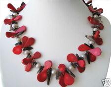 Bella Coralino Collar con cuarzo ahumado y S. perlas