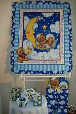 STARLIGHT STARBRIGHT BABY QUILT/DIAPER STACKER/JAR SET!