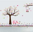 Wall stickers Tree branch Owl elephant I Art Kids Nursery Vinyl Decal removable