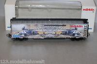 Märklin 45641 4-Achser USA Boxcar mit Dampflok - Motiv Spur H0 OVP