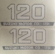 SUZUKI B120 B120M B120P SIDE PANEL DECALS X 2