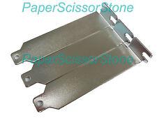 3X Low Profile Case ITX SFF Rear Slot PCI Bracket Blank Filler Cover Plate/Screw