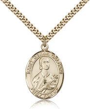 "Saint Gemma Galgani Medal For Men - Gold Filled Necklace On 24"" Chain - 30 Da..."