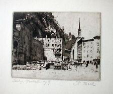 """Karl Tucek """"Salzburg, Pferdeschwemme"""""""