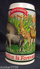"BUSCH GARDENS ""EXTINCTION IS FOREVER "" BEER STEIN BRAZIL"