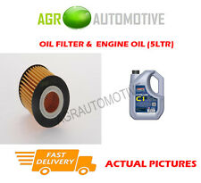 PETROL OIL FILTER + C1 5W30 ENGINE OIL FOR MAZDA 6 2.3 166 BHP 2002-08