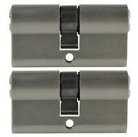 2x Profilzylinder 60mm 30/30 Not + Gefahr 10 Schlüssel gleichschließend Schloss