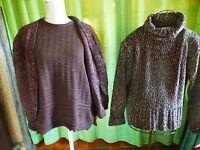 lot 3piéces pour  femme  !,2pulls ,un gilet laine ,marrons