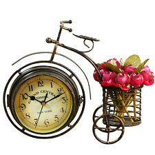 vintage double sided metal bicycle clock decorative bike mute desk table clock 2