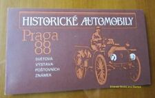 EBS Czechoslovakia 1988 Praga '88 Historic Automobiles Booklet 2950-2951 MNH**